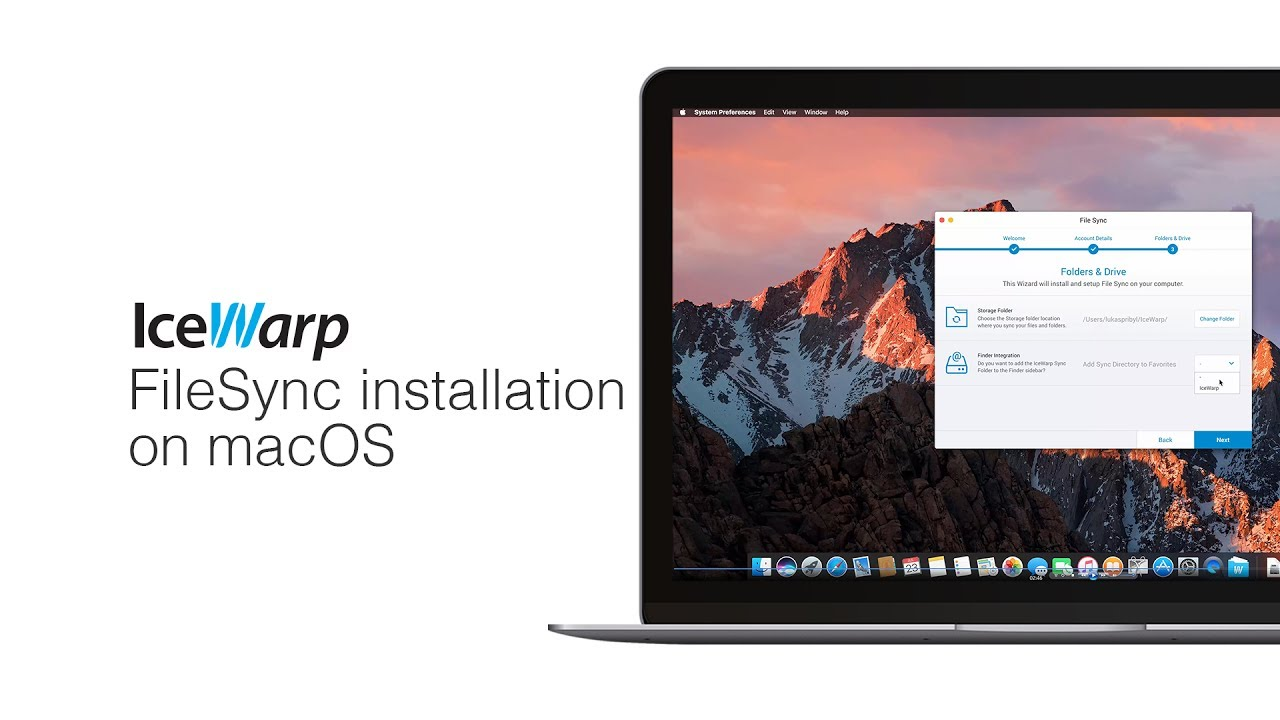 IceWarp FileSync installation on macOS