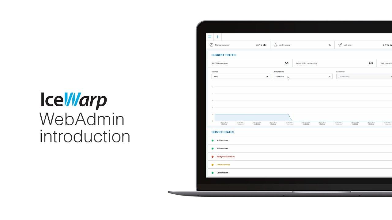 IceWarp WebAdmin introduction