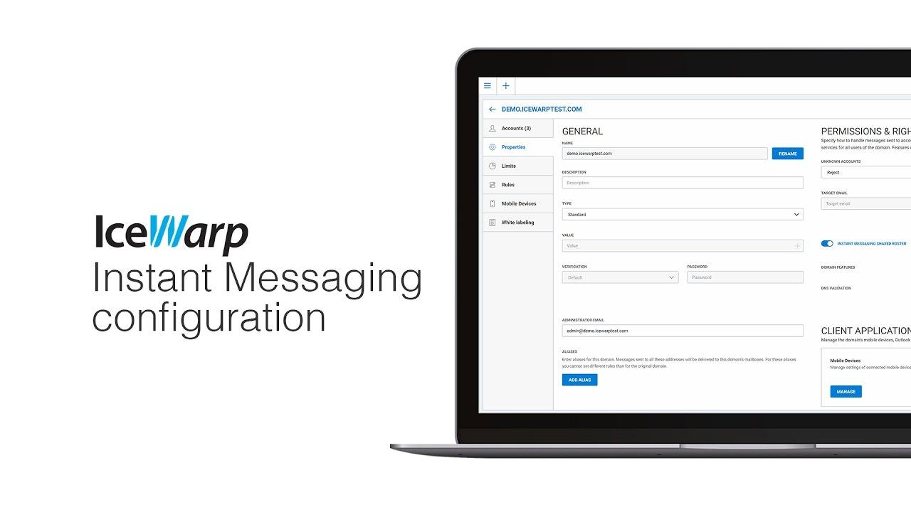 IceWarp Instant Messaging server configuration