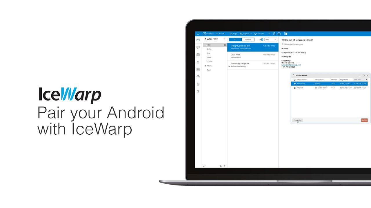 How to pair your Android phone with IceWarp Server