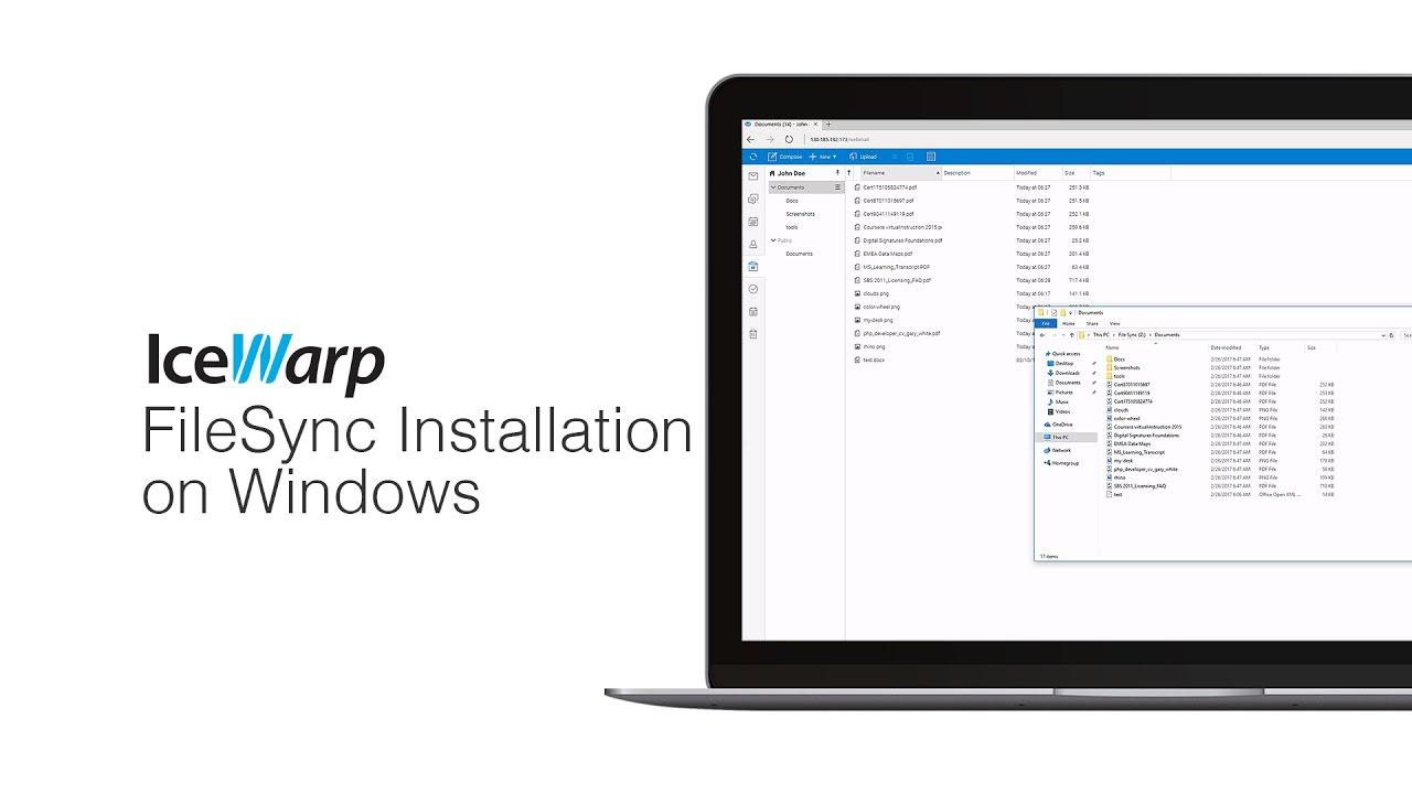 IceWarp FileSync Installation on Windows