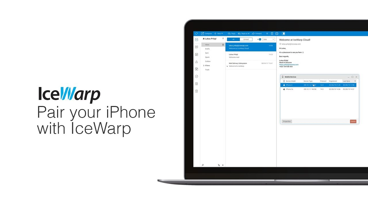 How to pair your iPhone with IceWarp Server