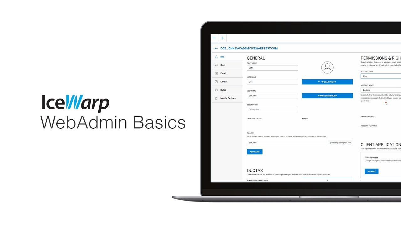 IceWarp WebAdmin Basics