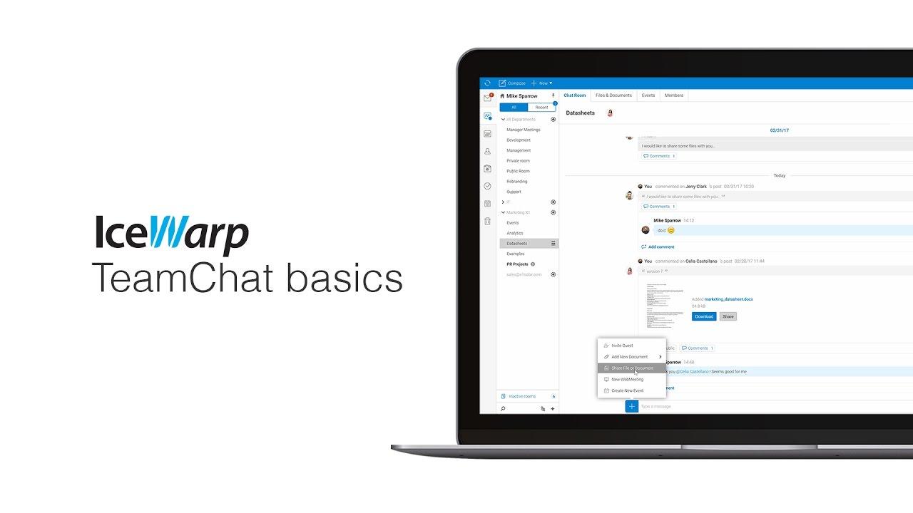 IceWarp TeamChat Basics
