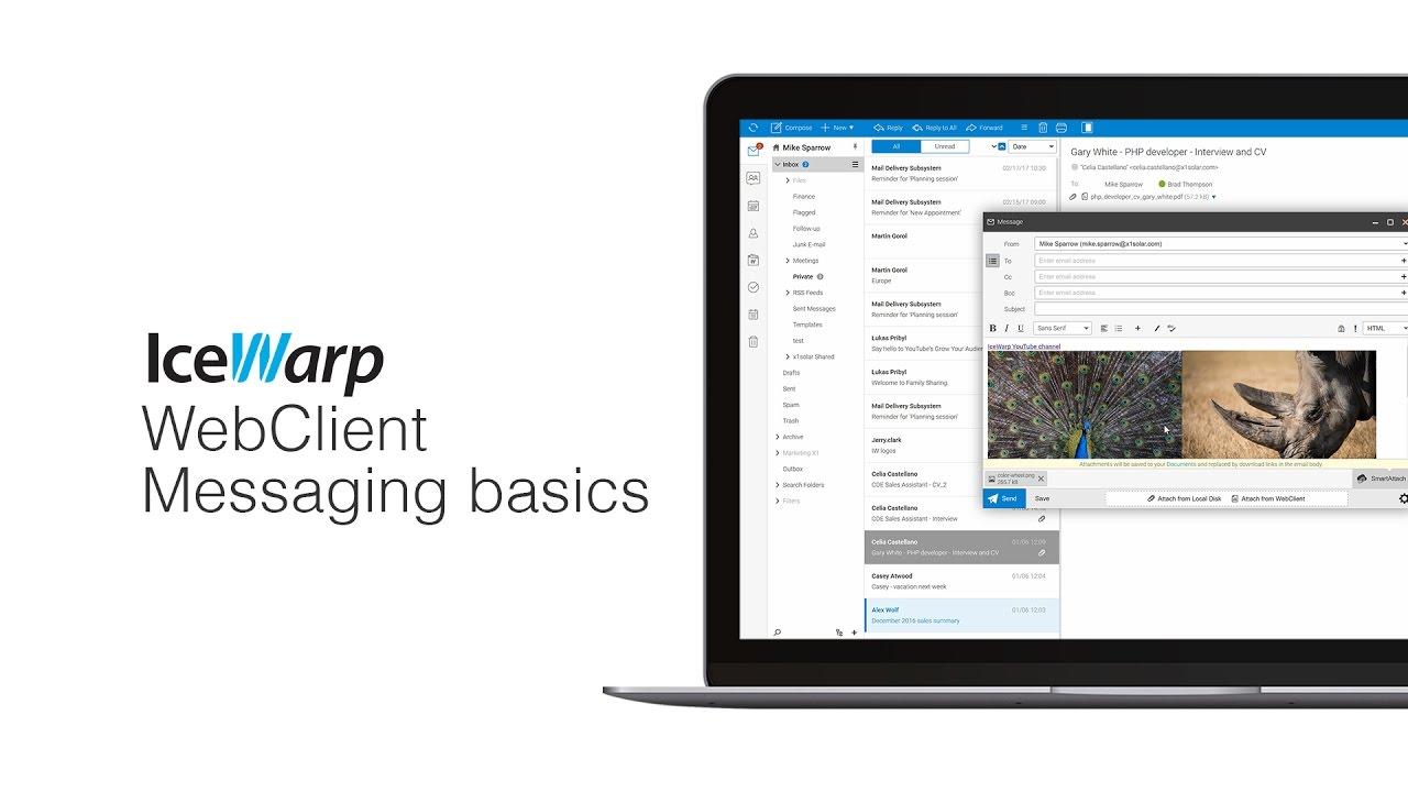 IceWarp WebClient Messaging Basics